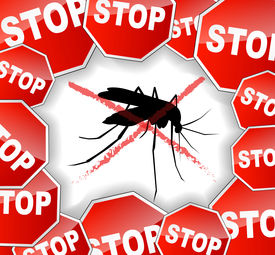 stock photo of gnat  - illustration of stop mosquitoes abstract concept background - JPG