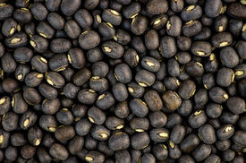 picture of urad  - Black urad dal bean lentils background texture - JPG