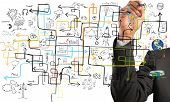 image of profit  - Businessman find a solution to increase profit - JPG