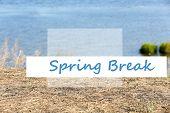 stock photo of spring break  - Spring break concept - JPG