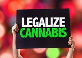 picture of cannabis  - Legalize Cannabis card with bokeh background - JPG