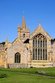 stock photo of church-of-england  - St Lawrence Church and churchyard Evesham Worcestershire England UK Western Europe - JPG