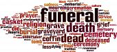 pic of urn funeral  - Funeral word cloud concept - JPG