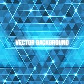 image of circuits  - Abstract geometric background with glowing triangles - JPG