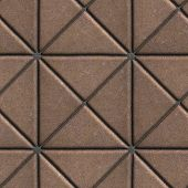 image of slab  - Brown Paving Slabs in the Form of Squares Different Shape - JPG