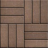 foto of slab  - Brown Paving Slabs of Rectangles Laid Out on Three Pieces Perpendicular to Each Other - JPG
