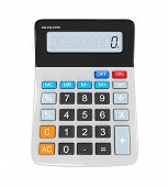 stock photo of calculator  - Calculator isolated on white background - JPG