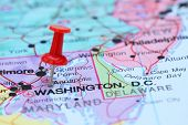 stock photo of usa map  - Photo of pinned Annapolis on a map of USA - JPG