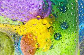 picture of raindrops  - Water drop droplet raindrop of colorful background - JPG
