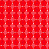 stock photo of cosmos flowers  - Red cosmos seamless pattern background - JPG