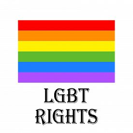 picture of bisexual  - illustration of beautiful LGBT lesbian gay bisexual and transgender flag for LGBT Rights - JPG