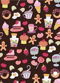 cute food wallpaper design