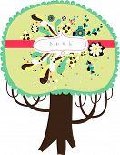 projeto de árvore bonita vector