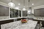 Modern Traditional Kitchen Design In New Luxury Home poster
