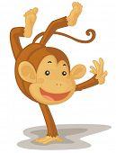 Illustration of an acrobatic monkey