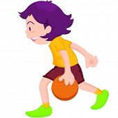 illustration of boy playing tenpin bowling
