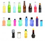 Isolated bottles at 21 MP each