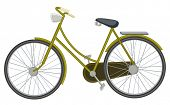 illustration of a two wheel bicycle