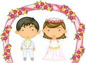 Illustration of a kids on a white background
