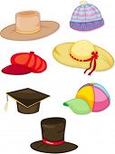 image of convocation  - illustration of a hats on a white background - JPG