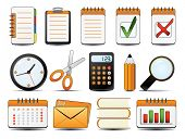 Office Icon Set One. Easy to edit vector.