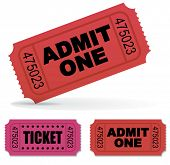 Admit one Vector Tickets Set