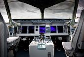 Inside View Of The Sukhoi Superjet 100 at the International Aviation and Space salon MAKS