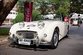 HUA HIN - DECEMBER 19: Austin Healey Sprite Frogeye, 1960. Classic Car on Vintage Car Parade 2009 at