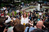 MOSCOW - JUNE 1: Russian singer Natalya Podolskaya. Premiere of