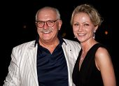 MOSCOW - JUNE 26: Director Nikita Mikhalkov and actress Maria Mironova. Afterparty Closing Ceremony