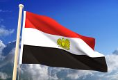 Egypt Flag (Clipping Path)