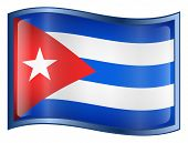 Cuba Flag Icon. ( With Clipping Path )