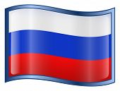 Russia Flag Icon. ( With Clipping Path )