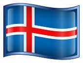 Iceland Flag Icon. (With Clipping Path)