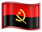 Angola Flag Icon. (With Clipping Path)