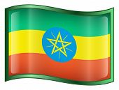 Ethiopia Flag Icon. (With Clipping Path)