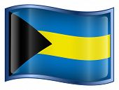 Bahamas Flag Icon. (With Clipping Path)