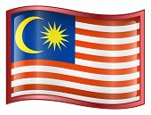 Malaysia Flag Icon. (With Clipping Path)