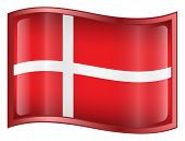 Denmark Flag Icon. (With Clipping Path)