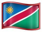 Namibia Flag Icon. ( With Clipping Path )