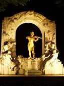 Statue of Johann Strauss in Vienna