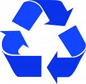 foto of reprocess  - Vectorial image representing the reprocessing waste symbol - JPG