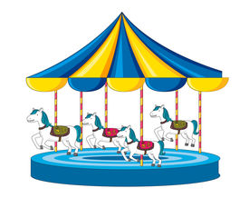 picture of merry-go-round  - Illustration of merry go round on white - JPG
