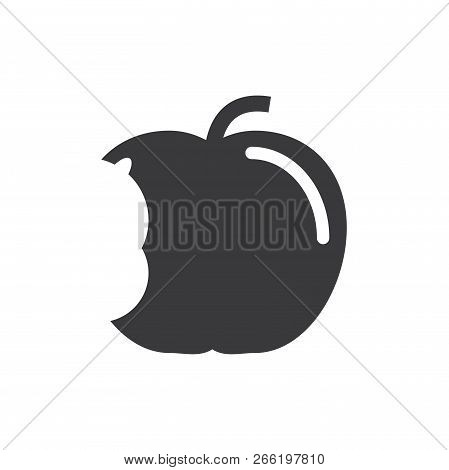 Apple Big Bite Vector Icon