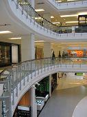 Interior of a modern shopping mall in Bangkok