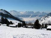 Majestic alpine view. Arvenbuel, Switzerland
