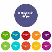 Black Friday Pulse Icon. Simple Illustration Of Black Friday Pulse Icon For Web poster