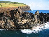 Rocky coast of Easter Island