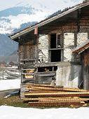 Постер, плакат: Старый дом в Энгельберге Швейцария