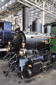 Old train in museum of transport in Lucerne, Switzerland